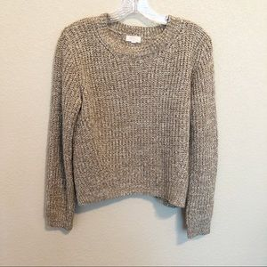AMBIANCE Long Sleeve Crop Sweater